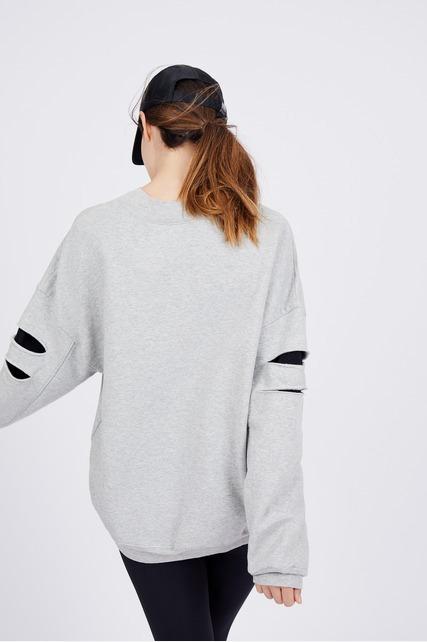 Split Sleeve Sweatshirt