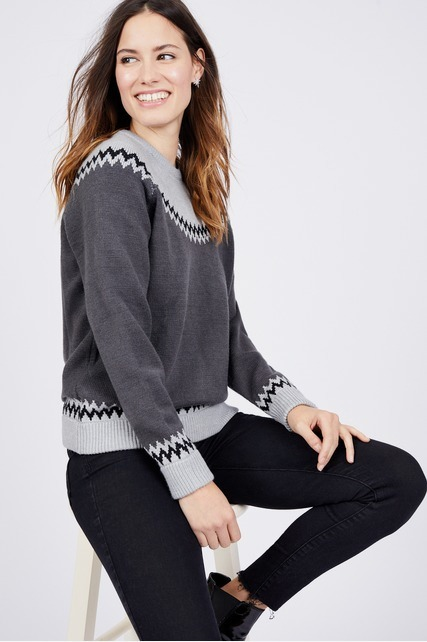 Zig Zag Border Sweater