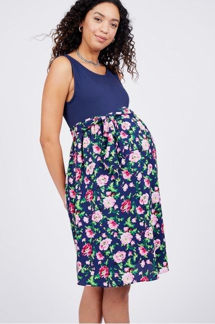 Woven Floral Skirt Dress