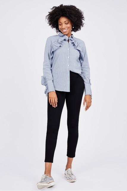 Ruffle Poplin Shirt