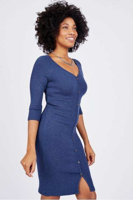 Henley Bodycon Dress