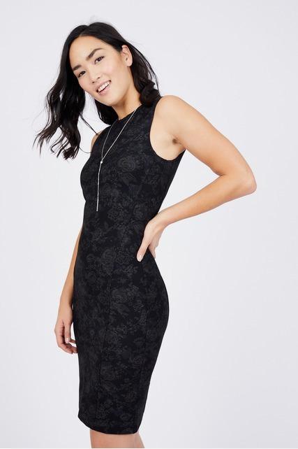 Printed Ponte Dress