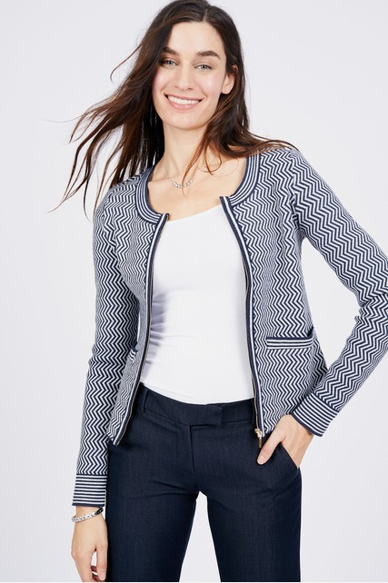 Chevron Boxy Jacket