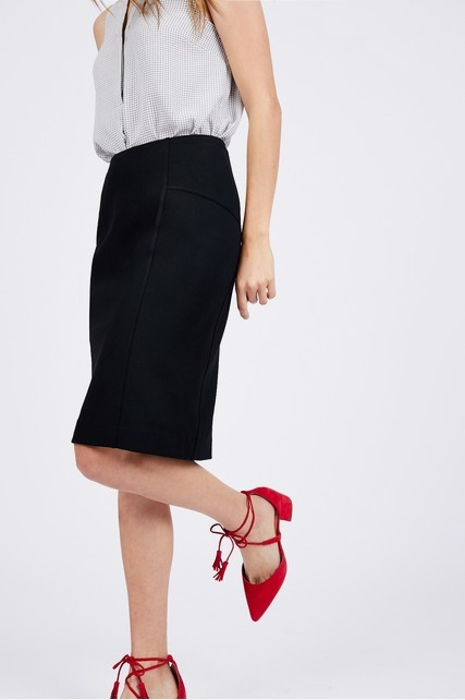 Pull-On Ponte Pencil Skirt