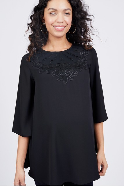 Embroidered Detail Top