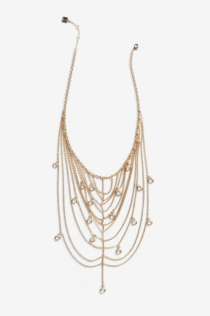 Multiple Chain Crystal Necklace