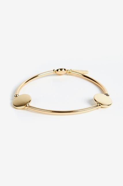 Gold Circle Stretch Bracelet