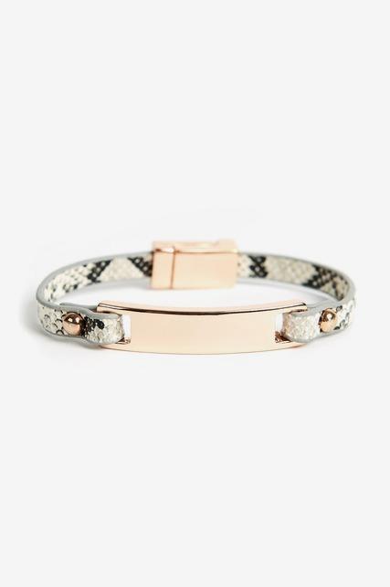 Faux Snakeskin Bracelet