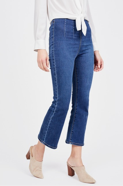 High Rise Cropped Flare Jean