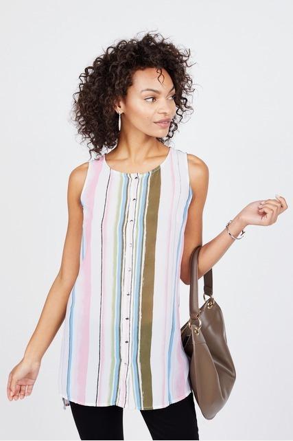 Pastel Striped Tunic