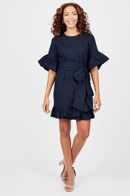 Belted Ruffle Dress By Clover And Sloane Rent Clothes With Le Tote
