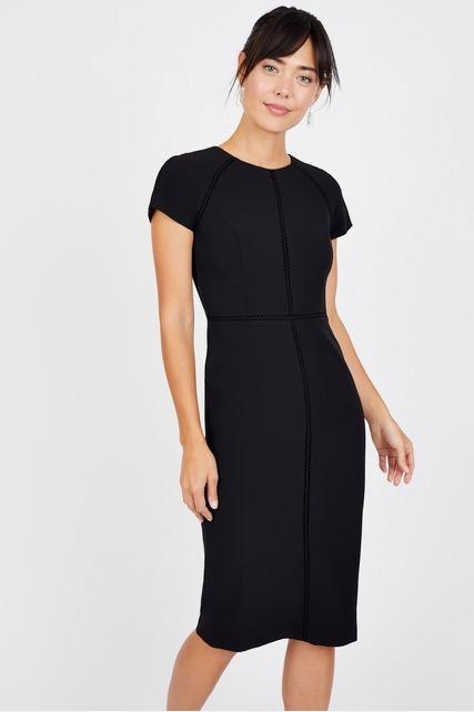 Scuba Split Neck Dress By Maggy London Rent Clothes With Le Tote