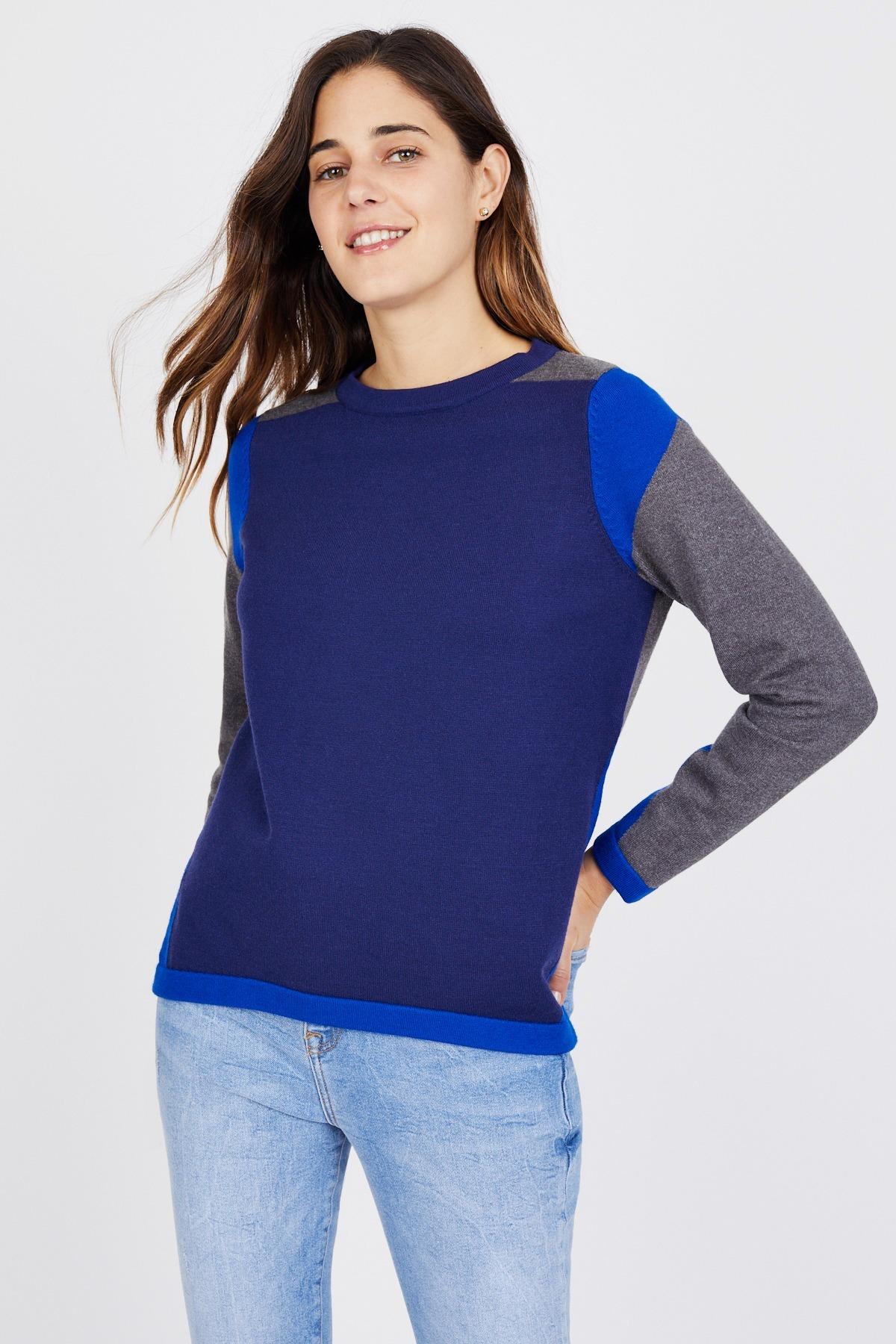 2b9de27c8eff Color Block Crewneck Sweater by Summer   Sage - Rent Clothes with Le ...